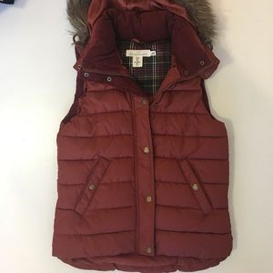 H&M puffer vest with detachable hood